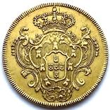 6400 рейсов. 1785. Мария I, Педро III. Бразилия (золото 917, вес 14,34 г), фото №5