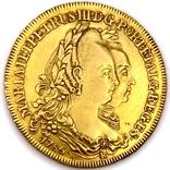 6400 рейсов. 1785. Мария I, Педро III. Бразилия (золото 917, вес 14,34 г), фото №12