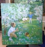 Соцреализм Дети в саду 1970 е Усикова Евдокия Григорьевна (1913 1996), фото №2