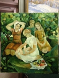 Соцреализм Материнство 1976 год, Яковлева Лариса Аркадьевна (1946), фото №4