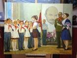 Соцреализм Прием в пионеры 1972 год, Довженко Анатолий Иванович (1932), фото №2