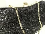 Вечерняя сумочка расшитая бисером. Ручная работа, фото №4