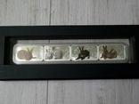Год Кролика - набор из 4-х цветных монет - серебро 999, полный комплект, фото №3