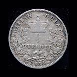 Британская Гайана 1/4 гульдера 1836 серебро, фото №2
