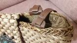 Плетенная сумка из соломы с подкладкой, фото №4