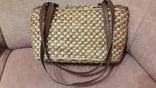 Плетенная сумка из соломы с подкладкой, фото №5