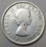 Монета 25 cents Canada-1954рік., фото №4