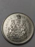 Монета 50 cents Canada 1966рік., фото №3