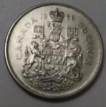 Монета 50 cents Canada 1966рік., фото №5