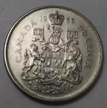 Монета 50 cents Canada 1966рік., фото №2