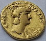 Ауреус Нерона, ранній, Римська імперія, 54-68 рр., золото, фото №5