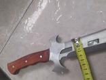 Тесак тяжелый металл 515 мм копия, фото №8