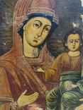 Богородица. На левкасе., фото №2