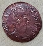 Денга 1700 г. портрет медь копия, фото №2