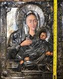 Икона Богородицы в серебре (27/22см), фото №5