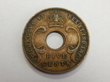 5 центов, 1942 г Британская Африка, фото №3