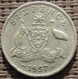 6 пенсов 1957 Австралия, фото №2