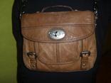 Сумка кожаная Fossil Long Live Vintage и наплечный ремень Cowboys Bag, фото №12