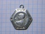 Старинный серебряный медальон, фото №2