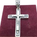 Подвес крест серебро, фото №2