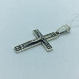 Кулон крест серебро, фото №6