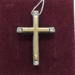 Кулон крест серебро, фото №2