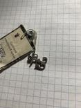 Подвеска буква Б серебро 925 пробы звезда, фото №4