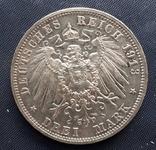 3 марки Саксония 1913г. 100 летие битвы под Лейпцигом, фото №3
