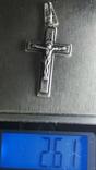 Крестик нательный серебро 925, фото №4
