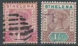 Бж13а Британские колонии. Святой Елены о. 1890 №№22-23 (15 евро), фото №2