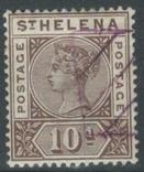Бж13г Британские колонии. Святой Елены о. 1896 №27 (концовка, 80 евро), фото №2