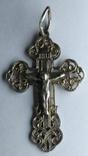 Крестик нательный серебро 925 №2, фото №2