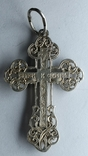 Крестик нательный серебро 925 №2, фото №3