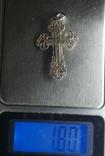 Крестик нательный серебро 925 №2, фото №6