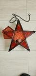 Новогодний светильник звезда на свечу, фото №4
