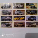 Вкладыши наклейки автомобилей ЮРМЕЛ, 12 шт, фото №2