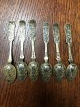 Серебряные ложки чернь ., фото №3