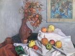 Натюрморт, 97х93см, авт. Куликов, 1969г, фото №4