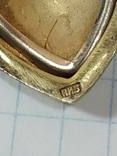 Красивая подвеска,сердечко, серебро, СССР., фото №8