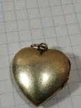 Красивая подвеска,сердечко, серебро, СССР., фото №11