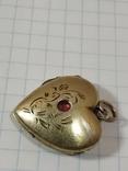 Красивая подвеска,сердечко, серебро, СССР., фото №13