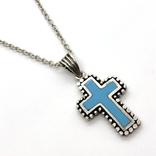 Крест на цепочке серебро, фото №2