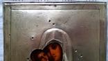 Ікона Володимирська Богородиця, латунь 22,3х18,0 см, фото №7