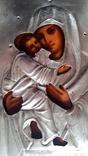 Ікона Володимирська Богородиця, латунь 22,3х18,0 см, фото №10