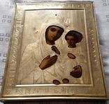 Ікона Іверська Богородиця, латунь 22,3х18,0 см, фото №4