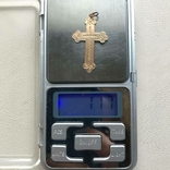 Крест золото 1.17 грамм 56`, фото №6