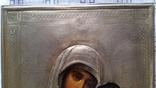 Ікона Казанська Богородиця, латунь 22,3x18,0 см, фото №7