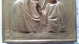 Ікона Казанська Богородиця, латунь 22,3x18,0 см, фото №9