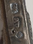 Миниатюрная икона. Серебро. 84 проба., фото №8