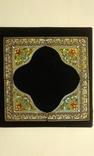 Старинные серебряные углы для иконы.Перегородчатая эмаль., фото №3